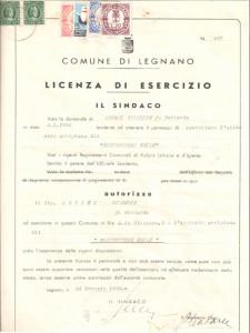 Licenza d'esercizio Monaci Costruzioni Srl